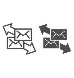 correspondence with direction arrows line and vector image