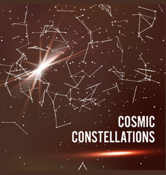 Cosmic constellations abstract background vector