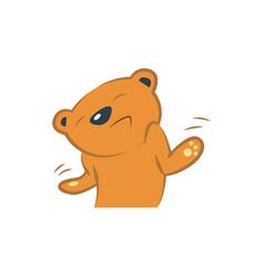 Cute bear ignoring vector