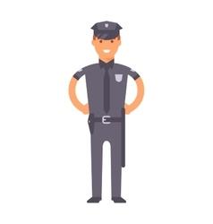 Cute cartoon character of policeman vector image