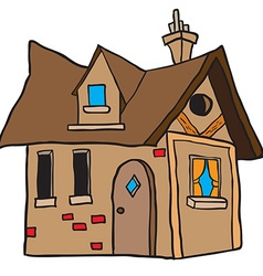 cute little house vector image