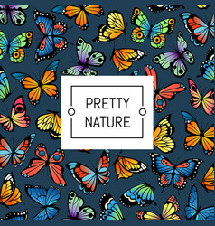 decorative butterflies pattern colored vector image