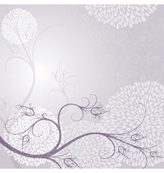 Delicate tender light purple frame vector image