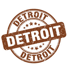 Detroit stamp vector