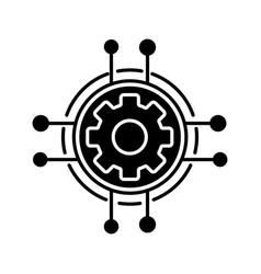 Digital settings glyph icon vector