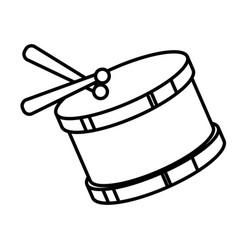 drum instrument toy icon vector image