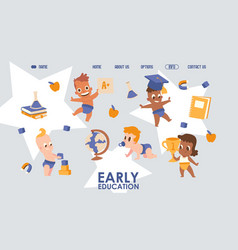 Early education website design vector