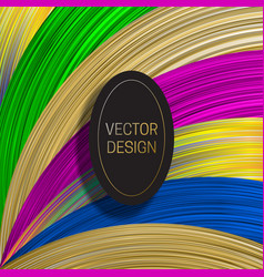 Elliptic frame on saturated colorful background vector