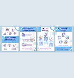 Employee adaptation tips brochure template vector