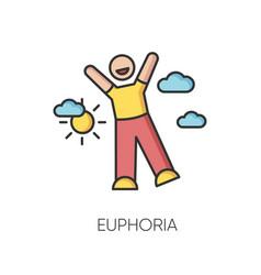 Euphoria rgb color icon vector