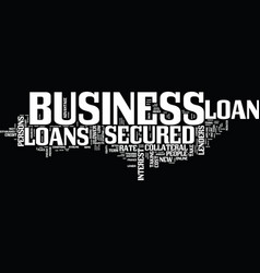 Finance new project through secured business vector