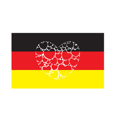 flag of germany with heart vector image