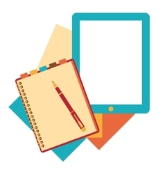 Flat design notepad paper sheet vector image
