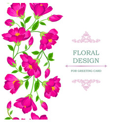 Floral seamless background flower bouquet border vector