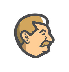 Georgian men head icon cartoon vector