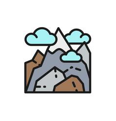 Georgian mountains kazbek mountain flat vector