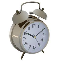golden vintage alarm clock vector image