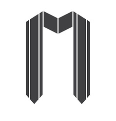 Graduation award ribbon icon vector