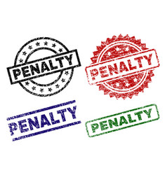 Grunge textured penalty seal stamps vector