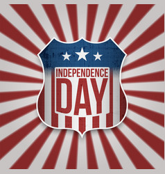 Happy independence day american banner vector