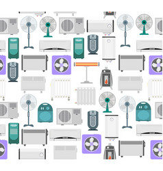 Heating devices background pattern vector