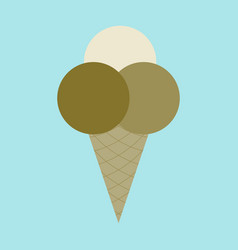 icon in flat design for restaurant ice cream balls vector image