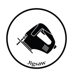 Icon of jigsaw icon vector image