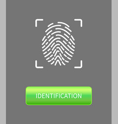 identification fingerprints poster print in frame vector image