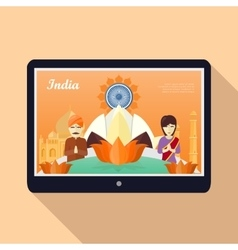 India Template Concept in Flat Design vector