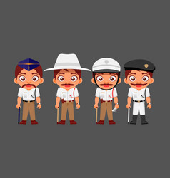 indian man traffic police indian police service vector image