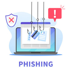 internet phishing stealing credit card data vector image