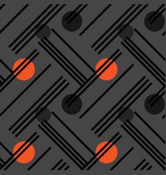Irregular lines and circles diagonal seamless vector
