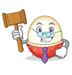 Judge rambutan mascot cartoon style vector