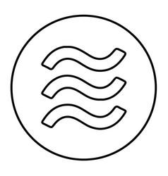 Libra icon for internet money vector