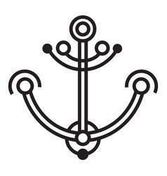 line anchor icon simple style vector image