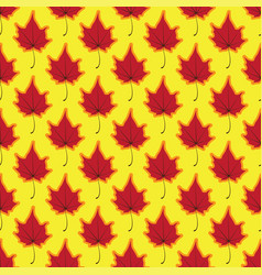 maple leaves seamless red yellow art vector image