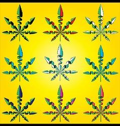 Marijuana cannabis design leaf symbol vector