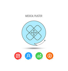 Medical plaster icon injury fix sign vector