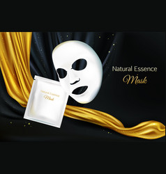 mock up facial mask cosmetics vector image