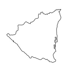 nicaragua map of black contour curves on white vector image