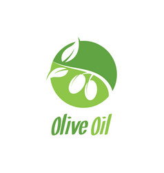 olive oil logo design inspiration vector image