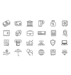 online business and finance icon set vector image