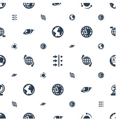 Orbit icons pattern seamless white background vector