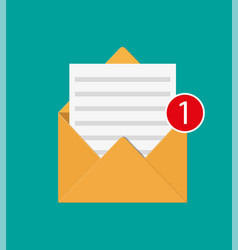 Paper envelope letter with counter notification vector