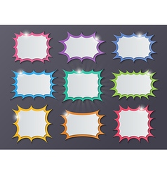 Paper starburst speech bubbles vector