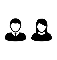 People icon male and female signs avatar symbol vector