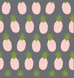pineapples abstract seamless background vector image