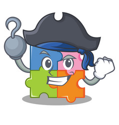 Pirate puzzle character cartoon style vector