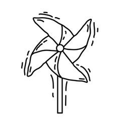 playground kids pinwheel vector image