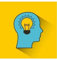 Profile head and bulb light vector